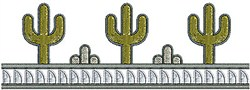 Southwestern Cactus Border embroidery design