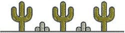 Southwest Cactus Border embroidery design