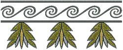 Floral Swirl Border embroidery design