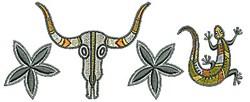 Southwestern Border Skull embroidery design