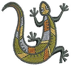 Southwestern Gecko embroidery design