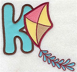 Letter Applique - K embroidery design