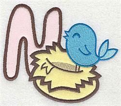 Letter Applique - B embroidery design
