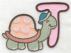 Letter Applique - T embroidery design