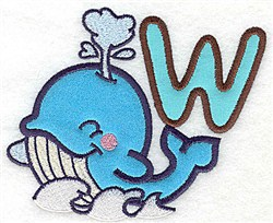 Letter Applique - W embroidery design
