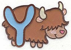 Letter Applique - Y embroidery design