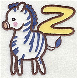 Letter Applique - Z embroidery design