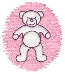 Trapunto Teddy embroidery design
