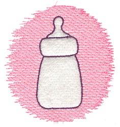 Trapunto Bottle embroidery design