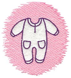 Trapunto Sleeper embroidery design
