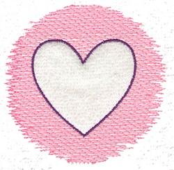 Trapunto Heart embroidery design