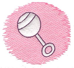 Trapunto Rattle embroidery design
