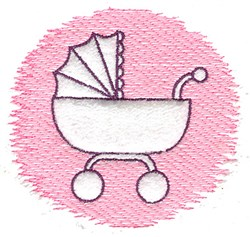 Trapunto Carriage embroidery design