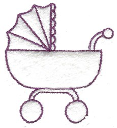 Baby Carriage Outline embroidery design