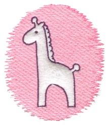 Trapunto Giraffe embroidery design