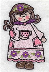 Cute Girl embroidery design
