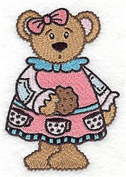 Teddy Girl embroidery design