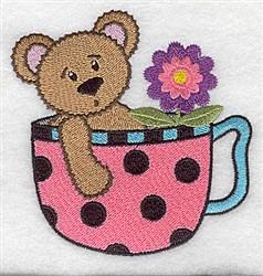 Teacup Teddy embroidery design