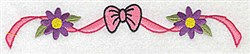 Flower & Ribbon Edge embroidery design