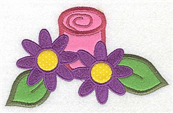 Flower & Candle Applique embroidery design
