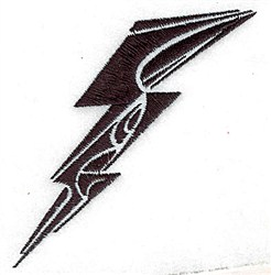 Tribal Lightning embroidery design
