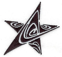 Tribal Star embroidery design