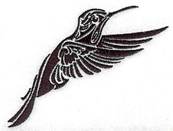 Tribal Humming bird embroidery design