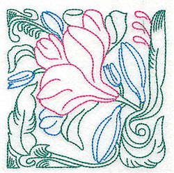 Tropical Vine embroidery design