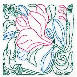 Tropical Vine embroidery design