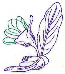 Tropical Flower Bud embroidery design