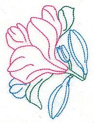 Tuberose Outline embroidery design