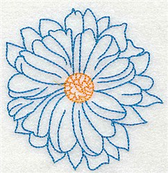 Petals embroidery design