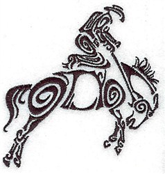 Rodeo Horse embroidery design