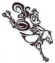 Brucking Horse embroidery design
