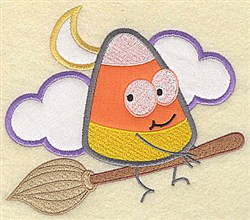 Candy Corn Applique embroidery design