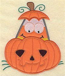 Be Afraid Of Jack O embroidery design