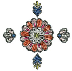 Tudor Bloom embroidery design