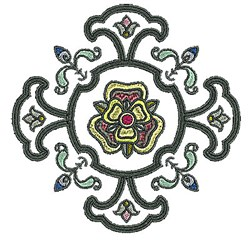 Tudor Floral Plant embroidery design