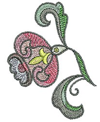 Tudor Blossom embroidery design