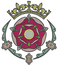 Tudor Tiara Flower embroidery design
