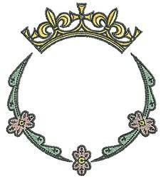 Tudor Tiara Circle embroidery design