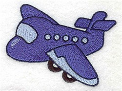 Passenger Airplane embroidery design