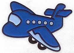 Passenger Airplane Applique embroidery design