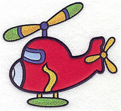 Helicopter Applique embroidery design