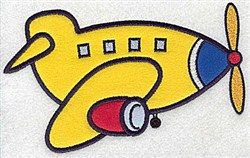 Airplane Applique embroidery design