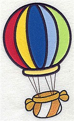 Hot Air Balloon Applique embroidery design
