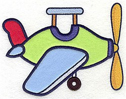 Toy Airplane Applique embroidery design