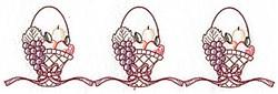 Basket Border Redwork embroidery design