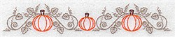 Pumpkin Border embroidery design
