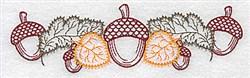Fall Acorn Border embroidery design